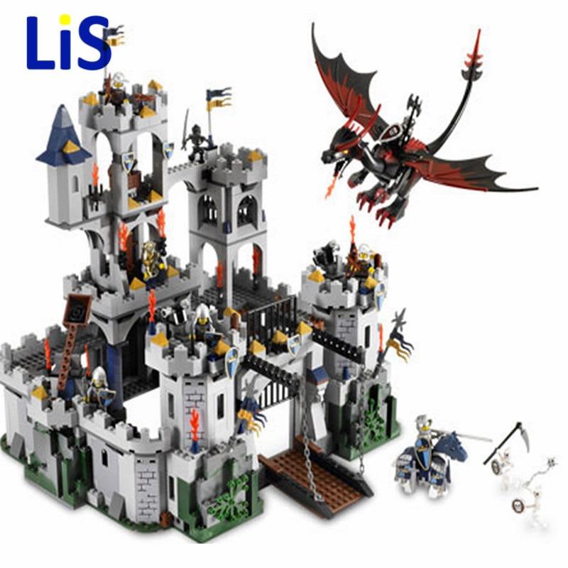 2017 New Lis 16017 1023Pcs Movie Series King Castle Battle Siege Set Building Block Toys Compatible with City 7094