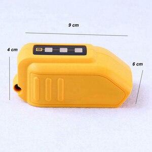 Image 5 - USB Converter Charger For DEWALT 14.4V 18V 20V Li ion Battery Converter DCB090 USB Device Charging Adapter Power Supply