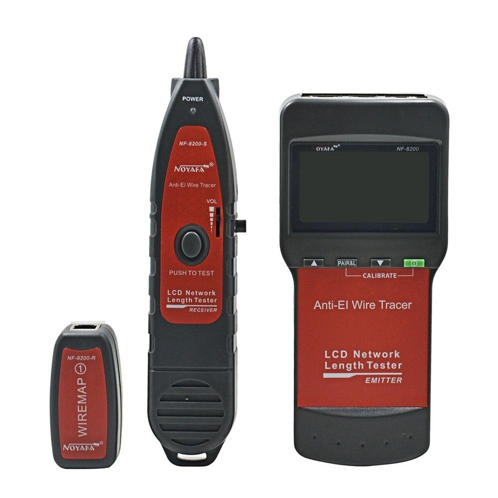 NOYAFA NF-8200 testeur de câble réseau LAN RJ45 RJ11 traqueur de fil téléphonique de téléphone diagnostiquer le traceur de tonalité avec LED LCD - 2