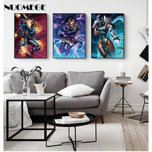 NUOMEGE Overwatchs Game Artwork Poster T Wall Art Pictures Decor Silk Canvas Prints Paintings Home Decoration