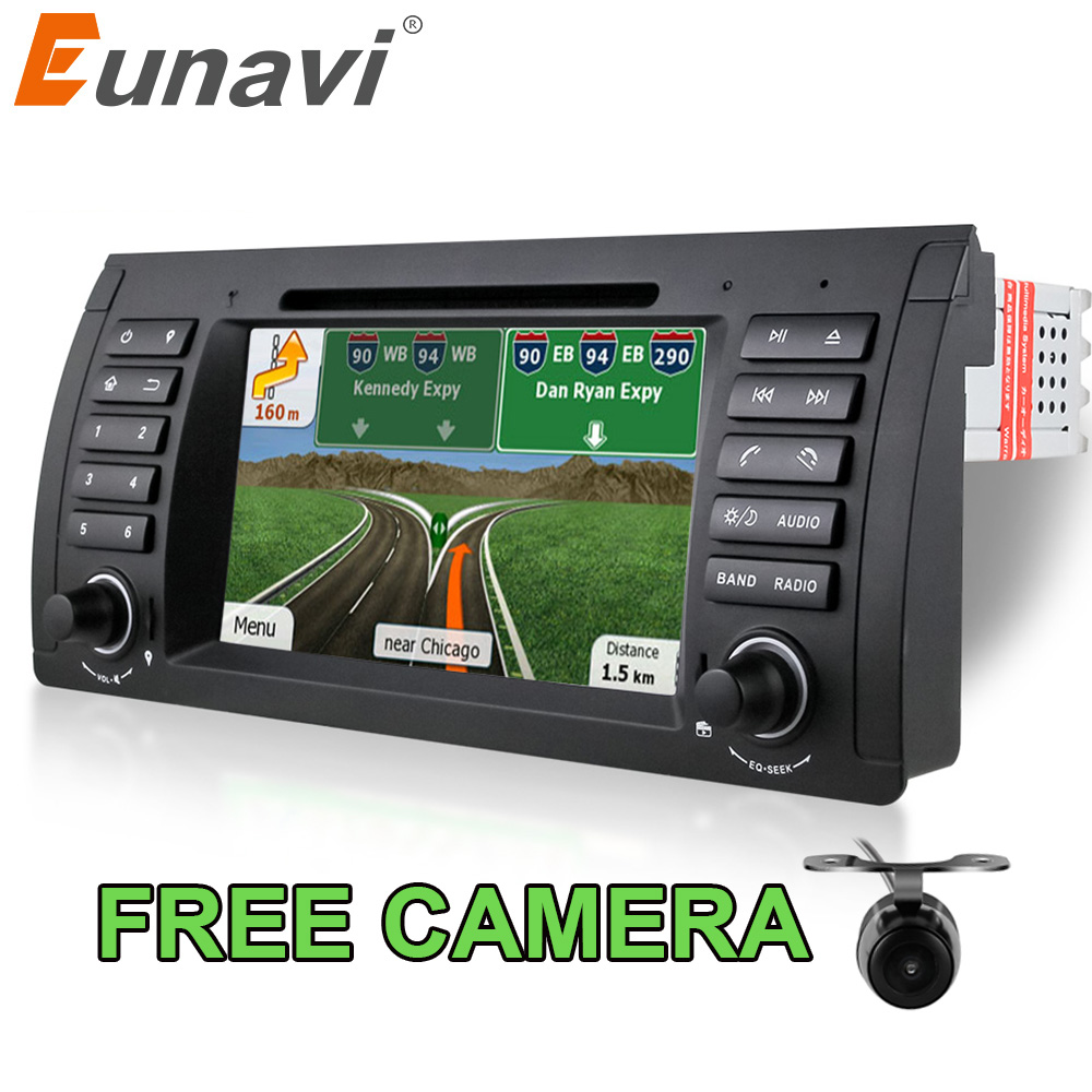 Eunavi single 1 Din 7 inch Car DVD player for <font><b>BMW</b></font> E39 E53 X5 <font><b>E38</b></font> Car dvd gps with GPS Navigation car <font><b>radio</b></font> stereo audio video image