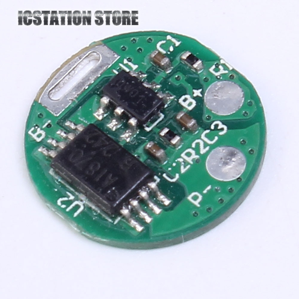 5pcs 1S 3.7V Li-ion Lithium Charging Protection Board PCB PCM Round 12mm 18650 Lithium Charger Module Overcharge Protection 5pcs 2s 7 4v 8 4v 18650 li ion lithium battery charging protection board pcb 89 5mm overcharge short circuit protection