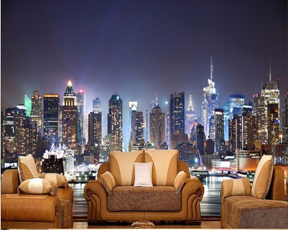 New York Wallpaper For Bedrooms Compare Prices On Night Nature Wall Mural Online Shopping Buy Low