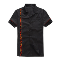Candow Look Vintage Clothing Online Men S Cotton Short Sleeves 50s 60s Rockabilly New Designs Flame