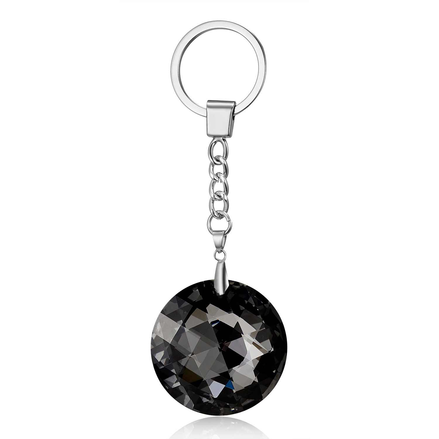 Rinhoo Shining Transparent Crystal Water Drop/Round Key Chain High Quality Fashion Jewelry Accessories Gift For Women