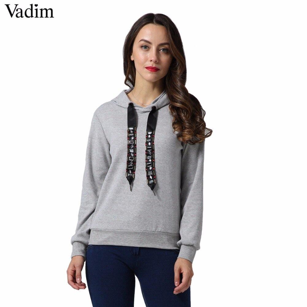 Hoodies & Sweatshirts Professional Sale Sweatshirt Kawaii Rose Printing Hoodies Women Autumn Casual Tops Tracksuits Long Sleeve Pullovers Hoody Lustrous