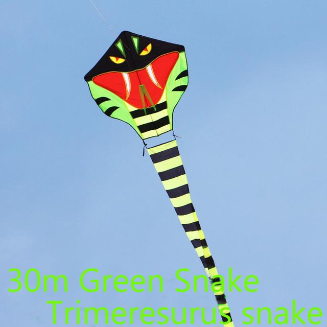 O envio gratuito de alta qualidade 30 m pipa cobra 5 pçs/lote cobra venda pipa com linha punho grande pipa weifang kite atacado fábrica
