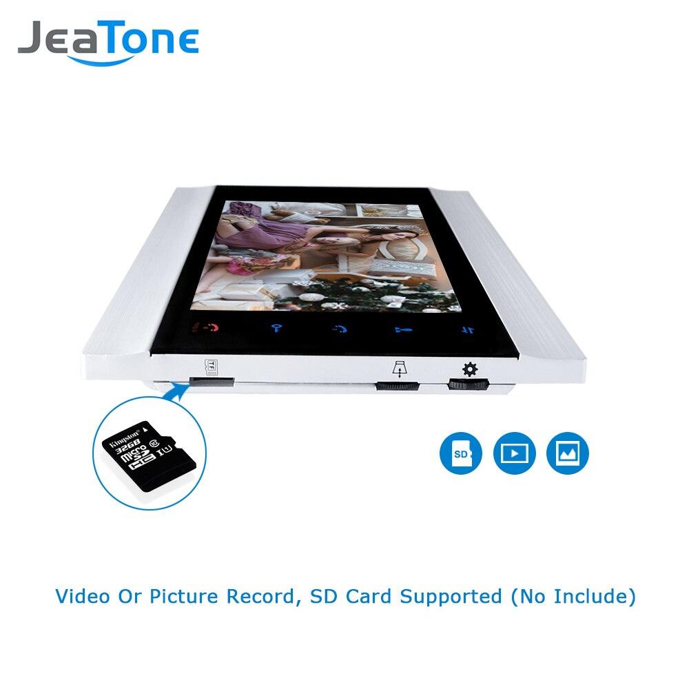 Image 4 - JeaTone 7 Inch LCD Video Doorphone Intercom System Door Release Unlock Home Security Video Door Phone Kit 1200TVL+16G SD Card-in Video Intercom from Security & Protection