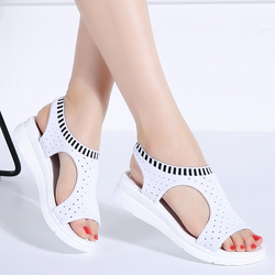 Women Sandals Summer 2019 New Female Shoes Woman Summer Wedge Comfortable Sandals Ladies Slip-on Flat Sandals Women Sandalias 8