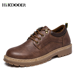 Brand Handmade Breathable Men's Oxford Shoes Top Quality Dress Shoes Men Flats Sneakers Fashion Men Leather Martin Shoes