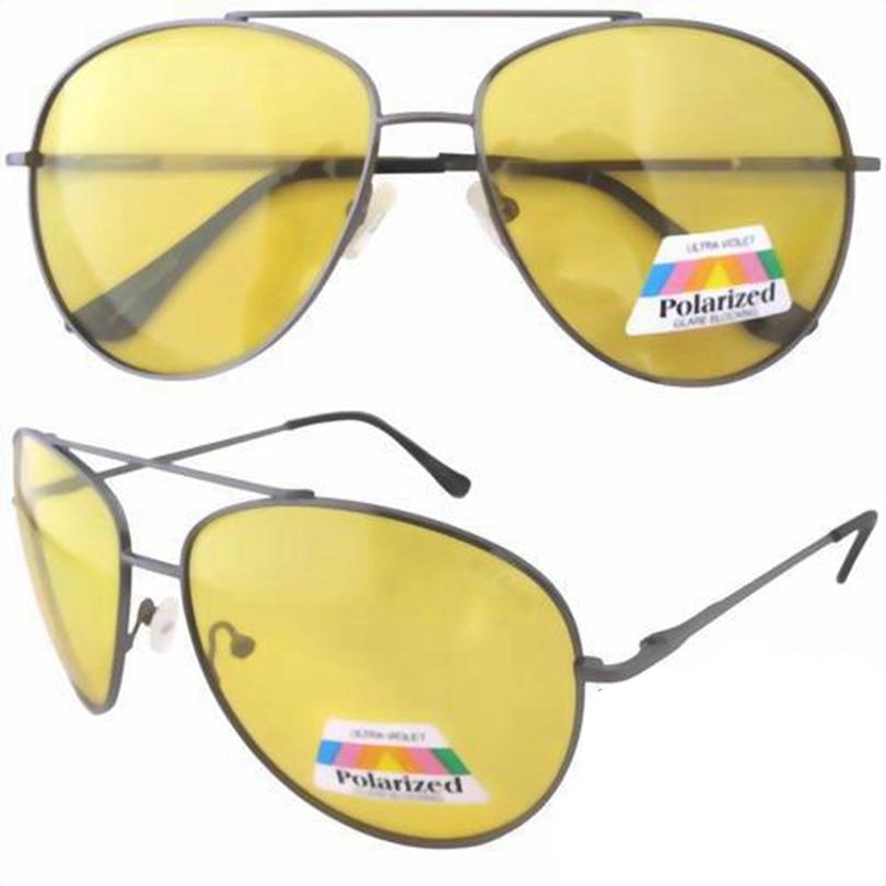 Large Yellow Frame Sunglasses : 12077 Spring Hinge Yellow Lens Night Vision Driving ...
