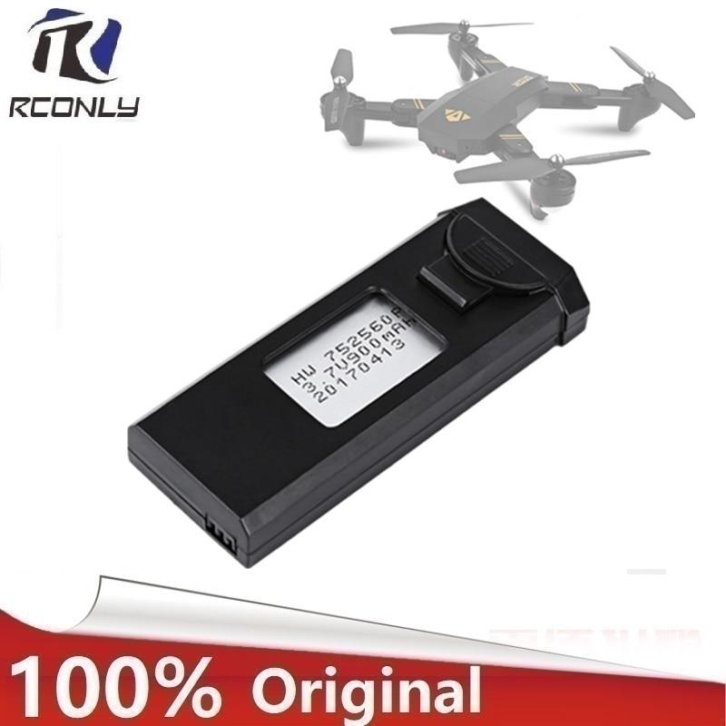 Original Visuo 3,7 V 900 mAh 30C Lipo Batterie Zubehör für XS809 XS809HC XS809HW XS809W Faltbare RC Quadcopter Drone Batterie