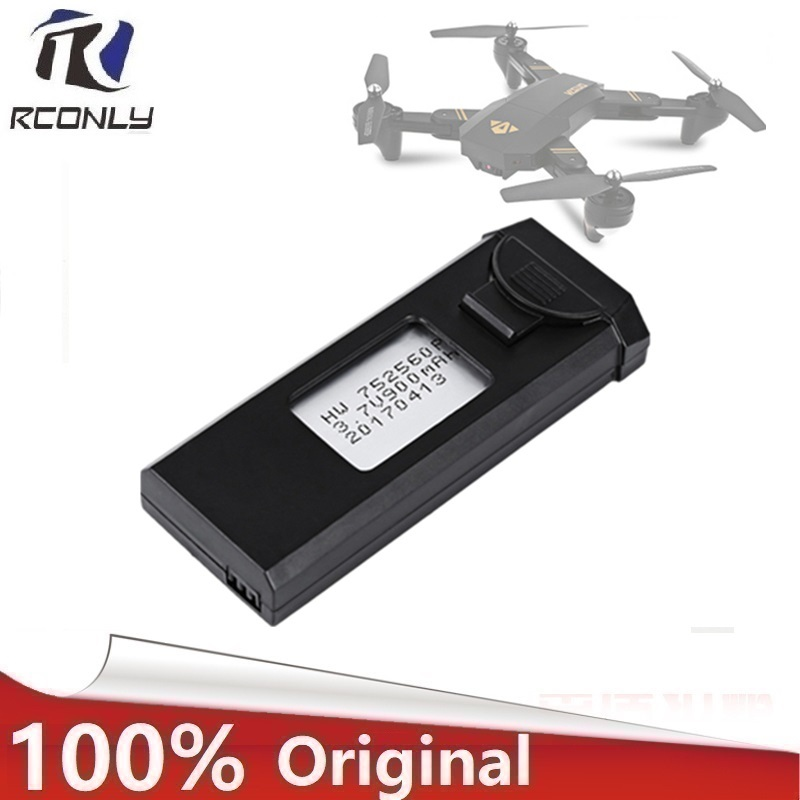 Original  Visuo 3.7V 900mAh 30C Lipo Battery Accessory For XS809 XS809HC XS809HW XS809W Foldable RC Quadcopter Drone Battery