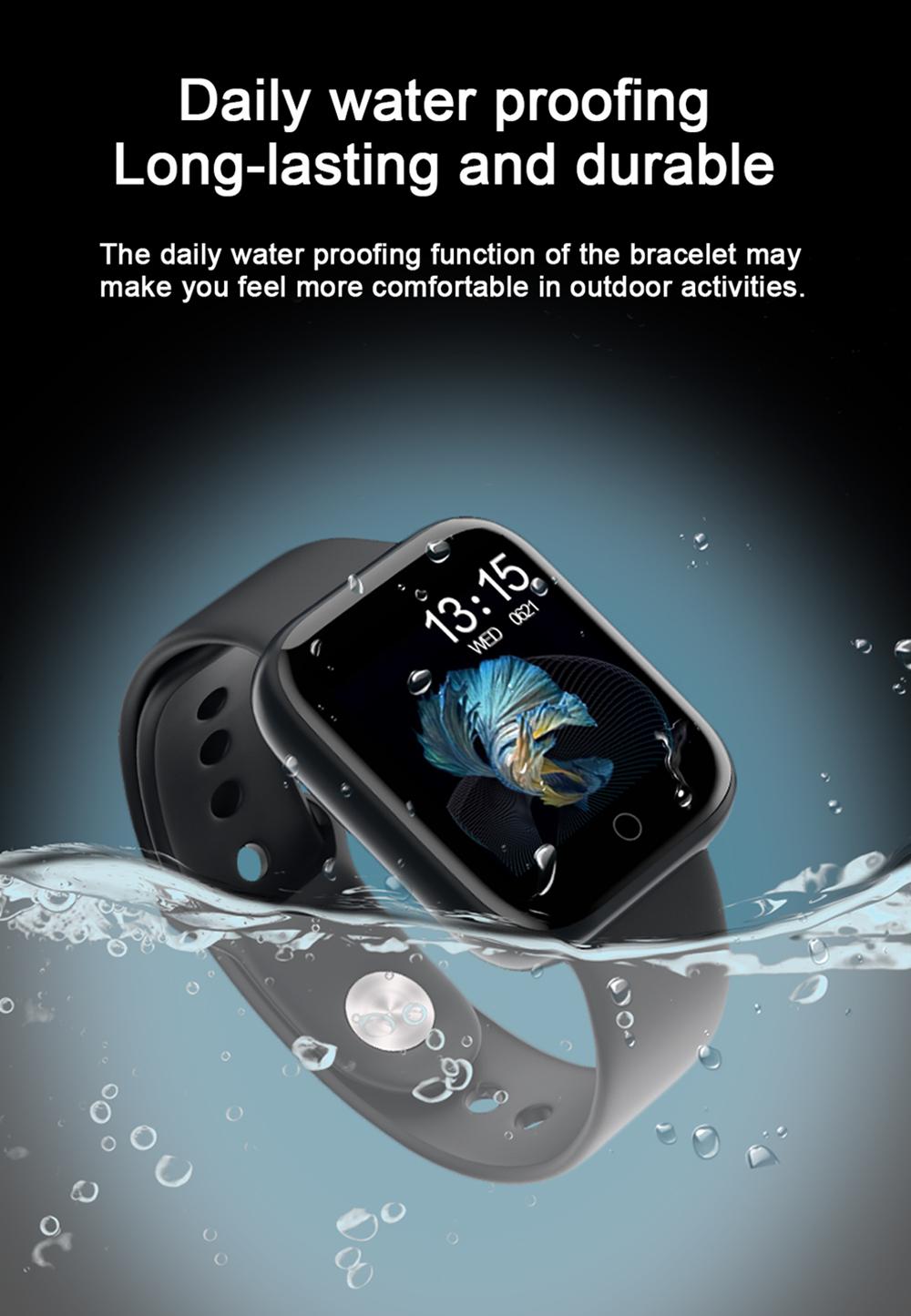 Reloj inteligente impermeable T80 Bluetooth 9