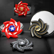 New Spiderman Batman Iron ManCaptain America Hand Spinner For Autism And ADHD Rotation Time Long Anti Stress Toys Fidget Toy EDC(China)