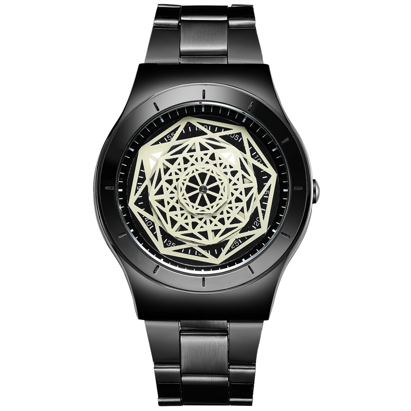 Unique Creative Watch Men Geek Turntable Novel Quartz Wrist Watch For Men Women Fashion Casual Unisex Clock Relogio Feminino novel design 2015 hot sell men women quartz wrist watch fashion woman cowboy fabric band wrist watch