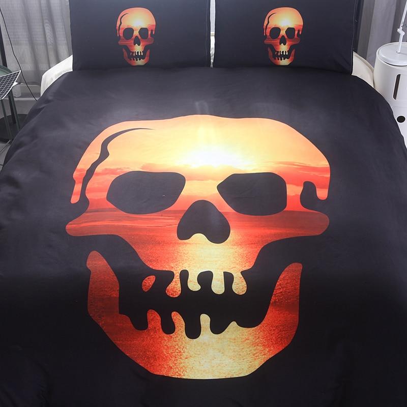 skull set di biancheria da letto-acquista a poco prezzo skull set ... - Copriletto Con Teschio