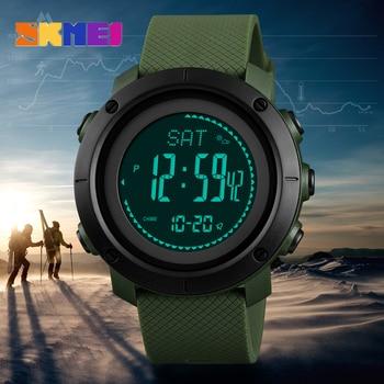 35ef94a10408 Azul del reloj SKMEI marca Mens relojes deportivos altímetro barómetro brújula  termómetro clima hombres reloj podómetro calorías reloj Digital de las ...