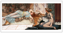 nude figurative painting canvas portrait art poster picture court sleeping beauty modern decorative