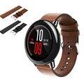 Hot popular substituição balck 2017 nova moda pulseiras de relógio pulseira de relógio de couro banda strap para xiaomi huami amazfit a1602