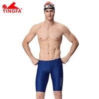 YINGFA FINA Swimwear shorts Mens professonal swimming trunks Racing Competition Sexy Swim Suit boy's sharkskin