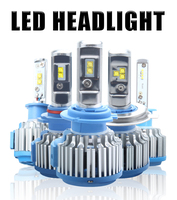 Effort&BJ Auto Headlamp Bulb H8 H9 H1 H7 LED Bulb H3 HB3 H4 H11 9005 9006 72W 7200LM 6500K T 1 Car Headlight