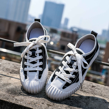 Misalwa Canvas Casual Women Shoes White Orange Leisure Young Girl School Sneakers Lace Up Flats Ladies Female Shoes цена