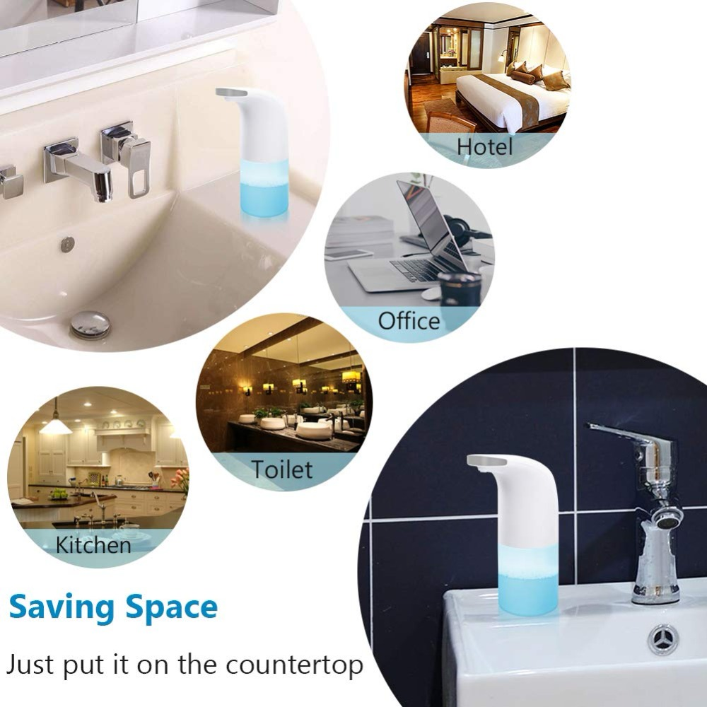 Intelligent Automatic Foam Soap Dispenser Ideal for Kitchen and Bathroom Non contact Automatic Sensor Bubble Smart Soap Dispen in Liquid Soap Dispensers from Home Improvement