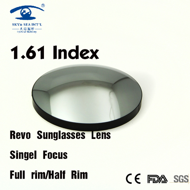 1.61 Index Prescription Lens Sunglasses Revo Colored Lenses Eye Myopia Lenses lentille de couleur yeux