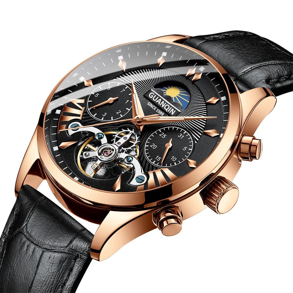 HTB1hoUkRgHqK1RjSZFPq6AwapXa3 GUANQIN 2019 clock men's/mens watches top brand luxury automatic/mechanical/luxury watch men gold tourbillon mens reloj hombre