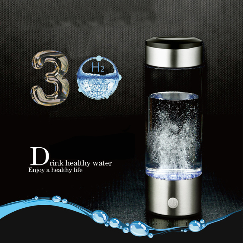 Generador de agua de hidrógeno alcalino fabricante de agua recargable ionizador de agua portátil línea USB de 380 Ml