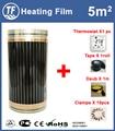 Hot 5m2 Ver Infrarood Vloer en Wand Verwarming Film Met Accessoires Thuis Warming Mat Breedte 0.5 m X Lengte 10 m AC220V 110 W/M
