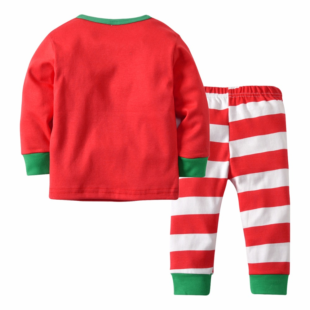 a26d7b4be Puseky 2018 NEW Cotton Kids Pajama Sets Boys Girls Nightwear Letter ...