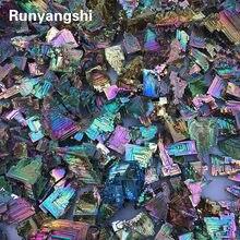 Lot de bismuth arc-en-ciel, cadeau de cristal minéral de guérison, cristal naturel, minerai de Bismuth brut, métal vert, 1 pièce