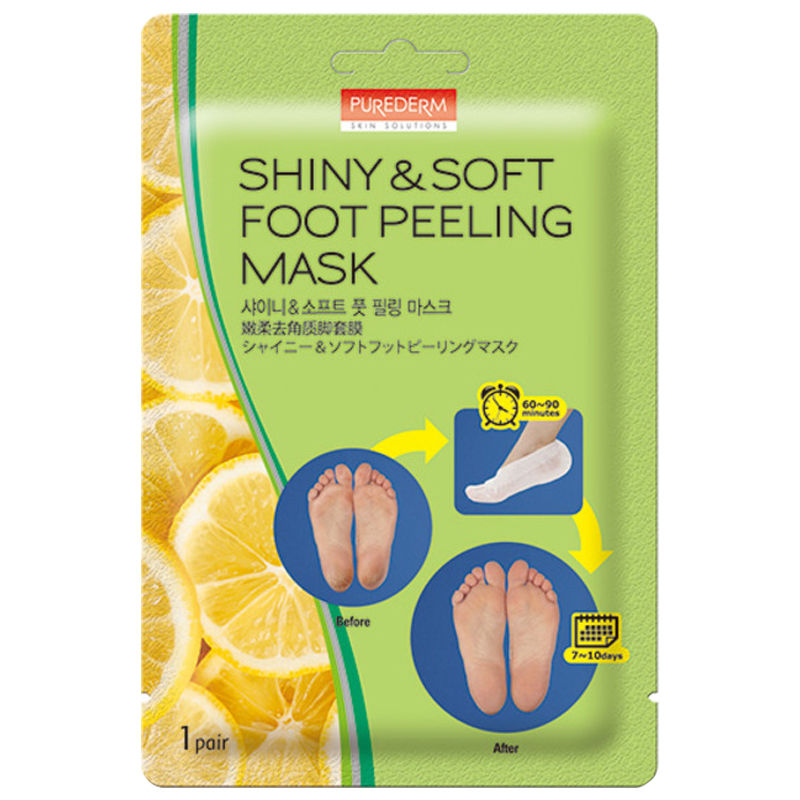 Treatments & Masks Skin Care Temperate Purederm Shiny Soft Foot Peeling Mask 1 Pair Best Korea Cosmetic Evident Effect