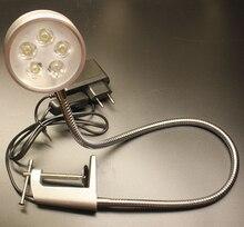 110V/220V 5W Wide Angle Led Clip Reading Light