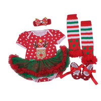 Christmas Baby Clothes Newborn Infant Baby Girls Clothing Santa Claus Dress Reindeer Romper Skirt Jumpsuit Bebe Costumes Outfits