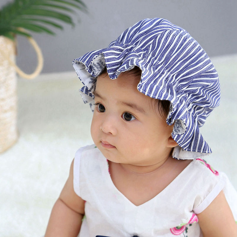 Baby Vintage Sitter Bonnet Sun Hat Girl Mop Cap Bath Hat Prop Brim Sunhat Newborn Shower Gift Summer Baby Accessory H208D защитный детский шлем