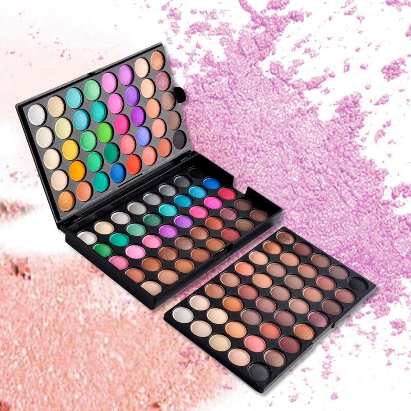 120 färger popfeel ögonskugga kosmetisk pulver naken ögonskugga palett makeup matt naturligt långvarigt skönhet maquiagem