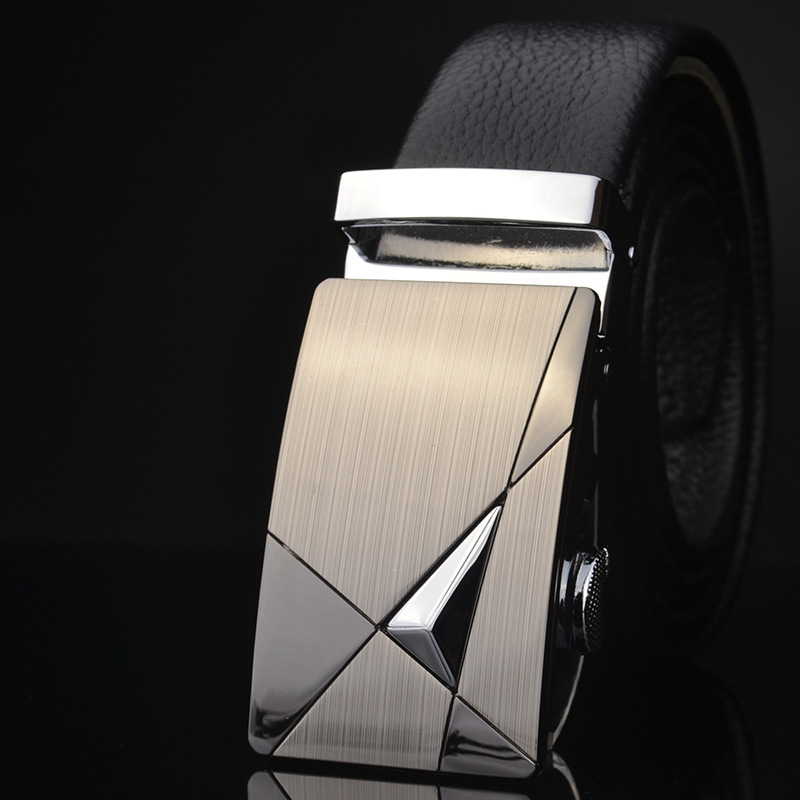 New Fashion Designer Belts For Men Sliding Buckle Ratchet Men Belt Automatic Fashion Ceinture Homme