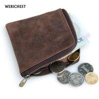 Genuine Leather Coin Purse For Women Men Zipper Small Purse Short Coin Wallets Brand Mini Wallet