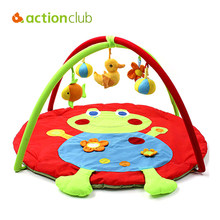 Actionclub 0-12 Months Baby Toy Baby Play Mat Game Tapete Infantil Frog Educational Crawling Mat Play Gym Kids Blanket Carpet(China)