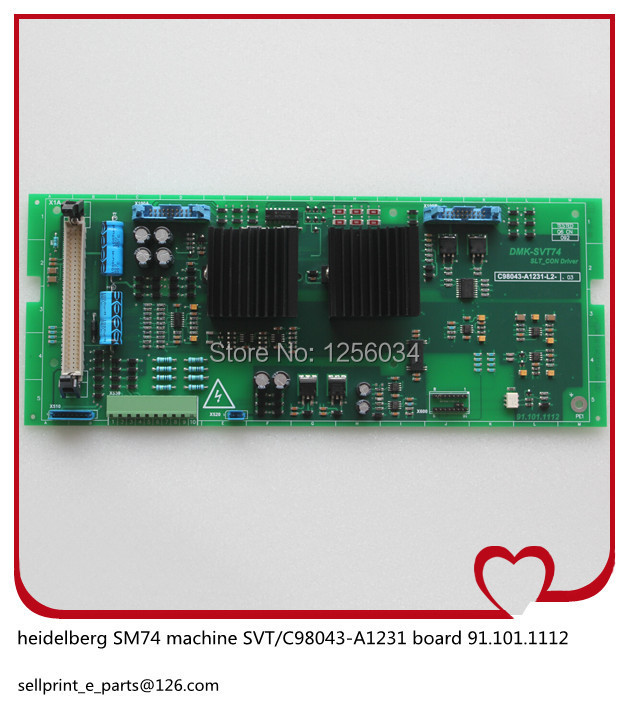 1 piece FREE SHIPPING heidelberg MO machines SVT board C98043-A1231, motherboard 91.101.1112