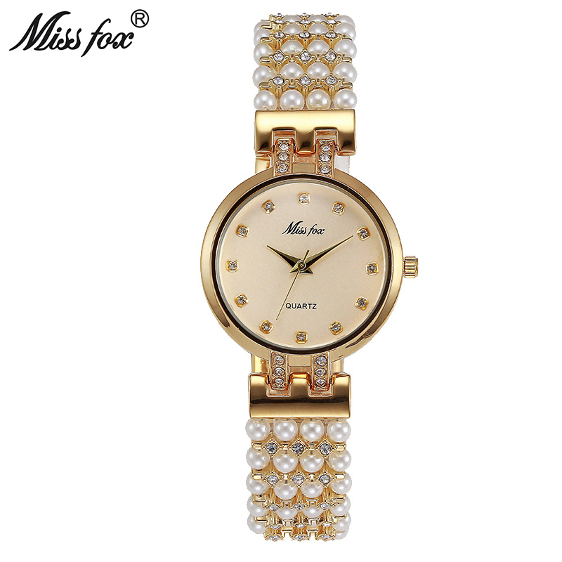 Miss Fox Small Ladies Watch Fashion Brand Nature Pearl Band Steel Horloges Vrouwen Water Resistant Japan Movement Orologio Donna small houses in nature