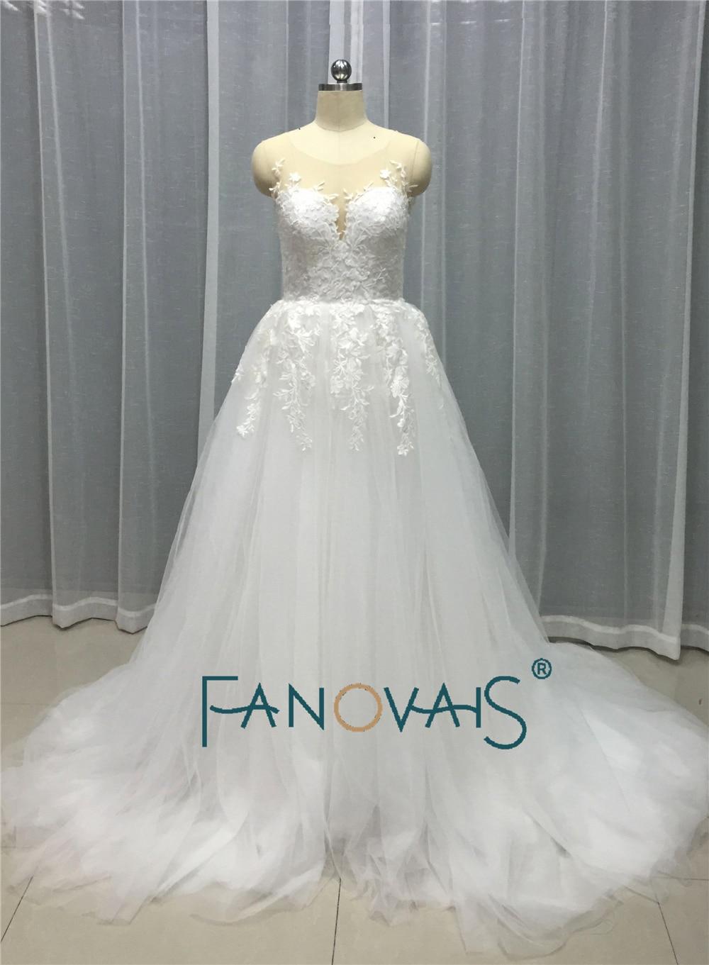 Champagne wedding dress