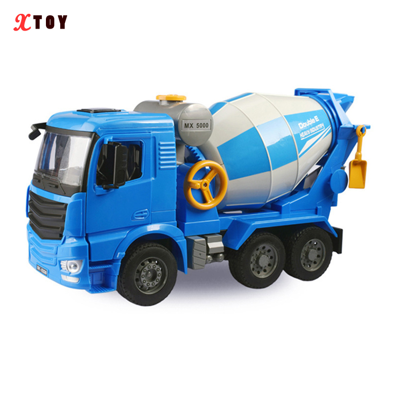 New 1:20 Scale Volvo Cement Mixer Truck Engineering Car With Sound Light Educational Collection Gift Kids Free Shipping