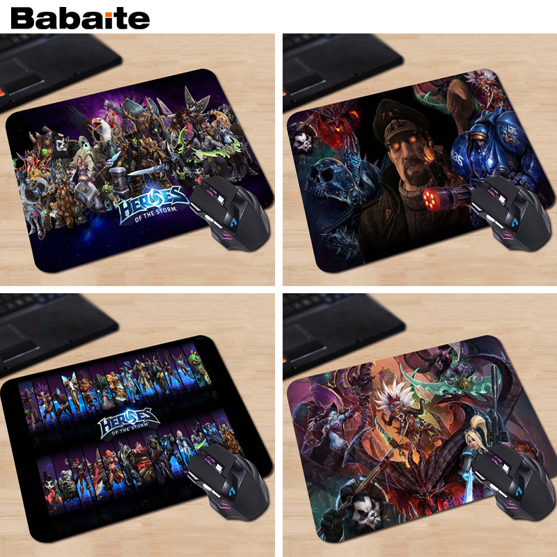 Babaite Heroes Of The Storm Hot Poster Custom High Quality Cloth Rubber Desktop Laptop Comfortable 18*22cm Gaming Mouse pad