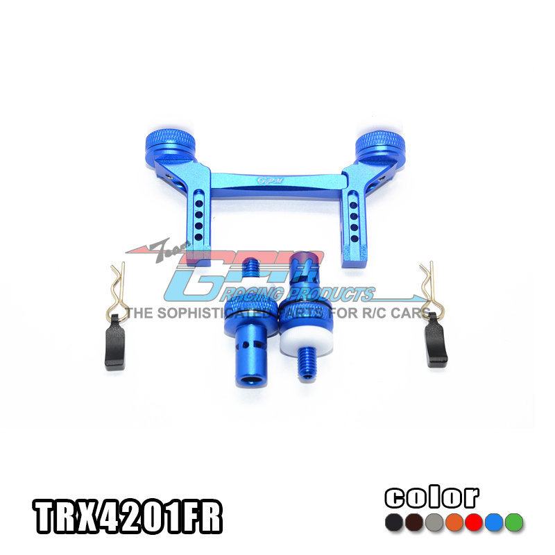 ALUMINUM FRONT & REAR MAGNETIC BODY MOUNT for 1/10 TRAXXAS Trx-4 TRX4