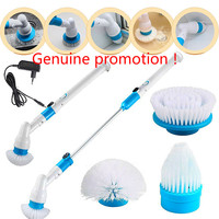 8%Y140 Genuine Electric Turbo Scrub Long Handle Cleaning Brush Multi function Wireless Charging Brush Household Cleaning Tools