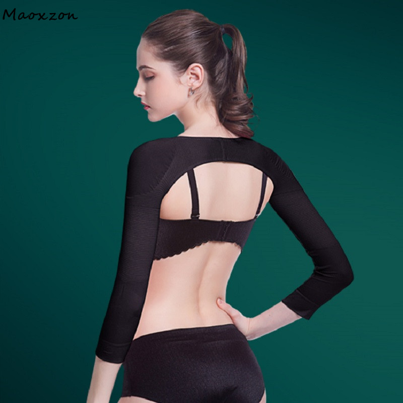 Maoxzon Women Arm Warmers Shapers Female Thin Slimming Upper Control Arm Correct Posture Prevent Humpback Keep Type Shaping Arms